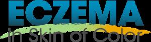 Eczema in skin of color logo in blue