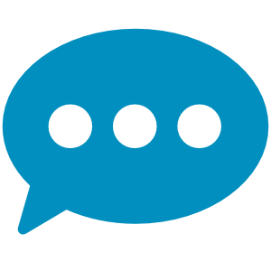 icon for contact us. It's a speech bubble